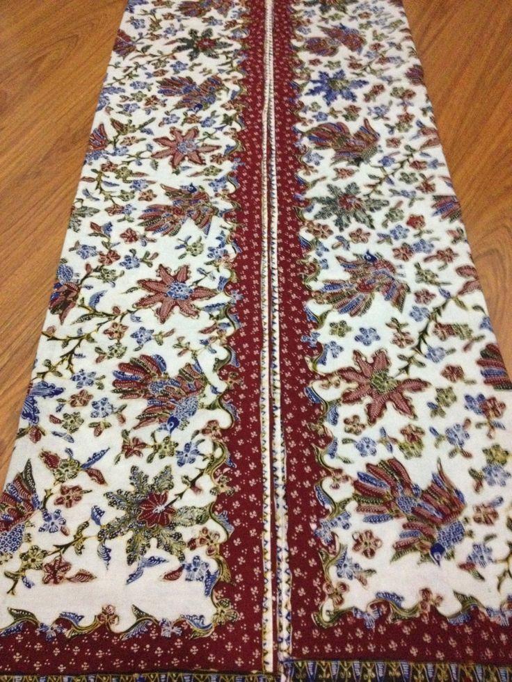 Indonesian Hand Drawn Batik Lasem Flower Bird Bledak Pattern by BATIKGREISS only USD 99 buy on Etsy.com
