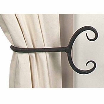 Curtains Ideas curtain hook tie backs : 17 best ideas about Black Curtain Tiebacks on Pinterest | Curtain ...