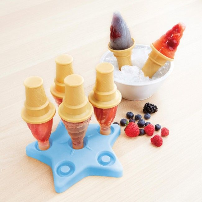 Make your own ice pops this summer with these fun 'Ice Cream Cone' molds. Great for creating ice cold treats with less sugar that store bought popsicles.