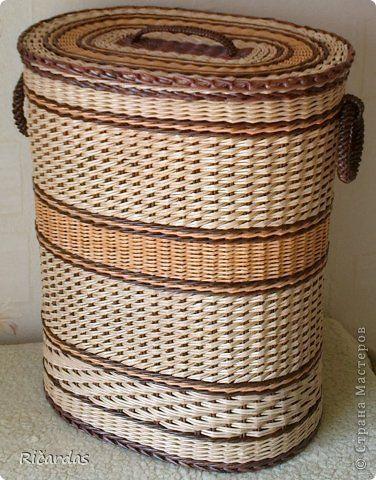 Поделка изделие Плетение Подарок сыну Бумага газетная Картон Трубочки бумажные фото 2