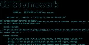 OSRFramework is a GPLv3+ set of libraries developed by i3visio to perform Open Source Intelligence tasks. They include references to a bunch of different applications related to username checking, information leaks research, deep web search, regular expressions extraction and many others.