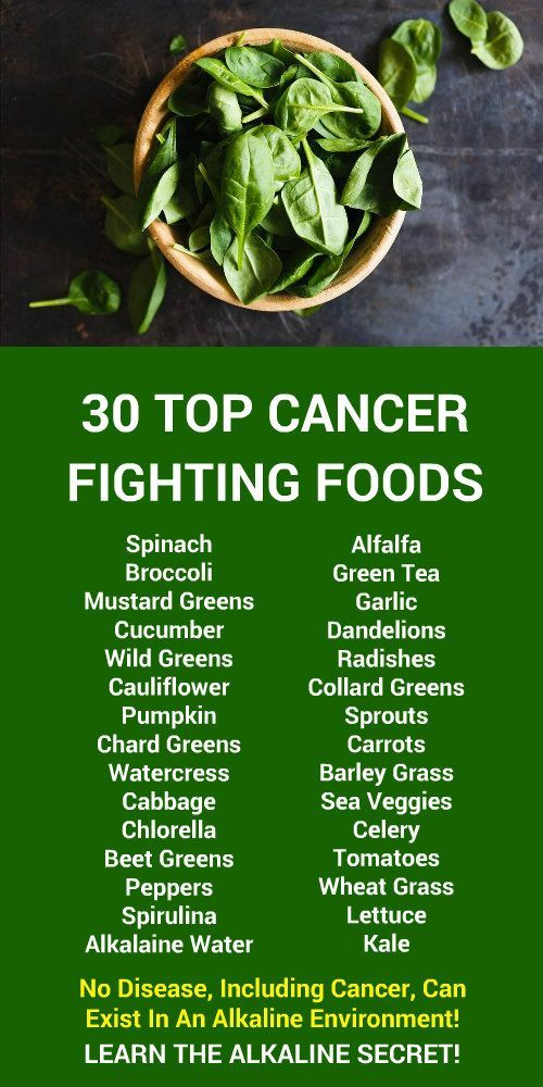 30 TOP CANCER FIGHTING FOODS. No disease, including cancer, can exist in an alkaline environment!  Our incredible alkaline rich, antioxidant loaded, products help boost your immune system while helping your body increase energy, detox, cleanse, burn fat, and lose weight more efficiently without changing your diet, increasing your exercise, or altering your lifestyle. LEARN MORE #Alkaline #Antioxidants #FatBurning #WeightLoss #FoodsSandra Doucet