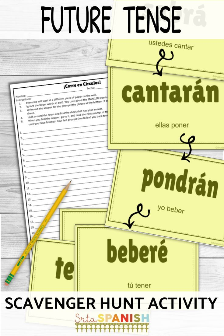 Need Something Fun For Future Tense Verbs Check Out This Scavenger Hunt Game Your Spanish Class Will Be Spanish Lesson Plans High School Spanish Good Grammar [ 1104 x 736 Pixel ]