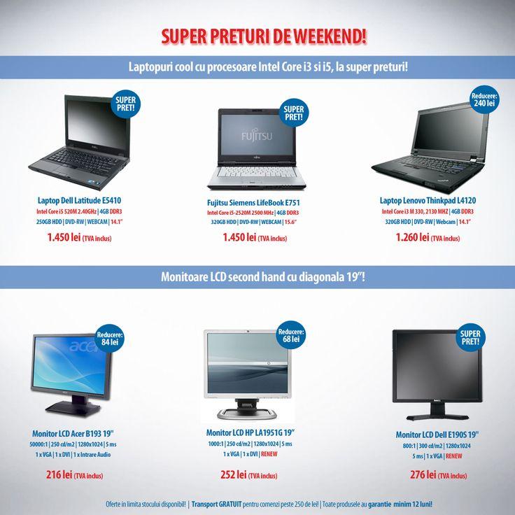 Weekendul acesta avem super preturi la laptopuri si monitoare! Nu rata ofertele  Pc-Shop!