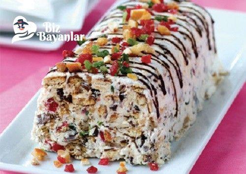 Halleyli Pasta Tarifi Bizbayanlar.com #ÇikolataSosu, #Çilek, #Halley, #Kayısı, #Kivi, #KremŞanti, #Muz, #Süt,#Genel http://bizbayanlar.com/genel/halleyli-pasta-tarifi/