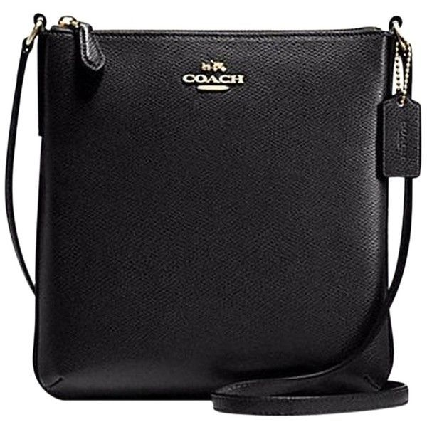 Pre-owned Coach Crossbody ~ Crossgrain Leather Shoulder Bag ($130) ❤ liked on Polyvore featuring bags, handbags, shoulder bags, black, shoulder handbags, coach shoulder bag, coach crossbody, zipper purse and zip purse