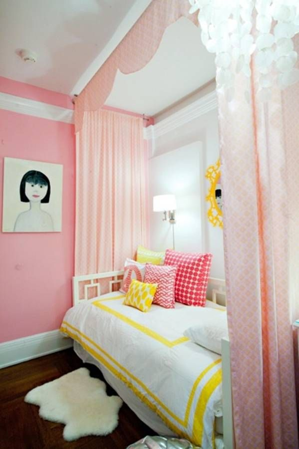 Bedroom Ideas For Teenage Girls Pink And Yellow 22 best girls bedroom images on pinterest | home, bedroom ideas