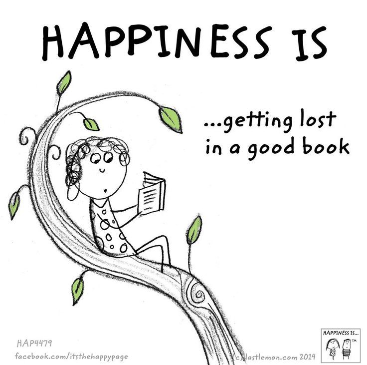 Happiness is ...getting lost in a good book.