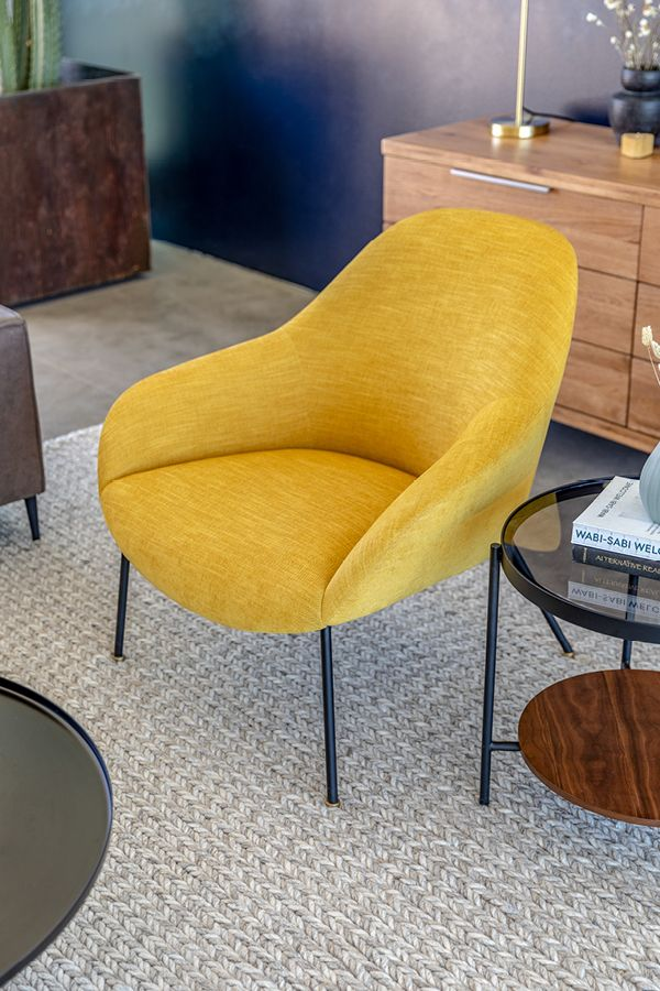 Savary Finch Yellow Chair Leather Dining Room Chairs Mid