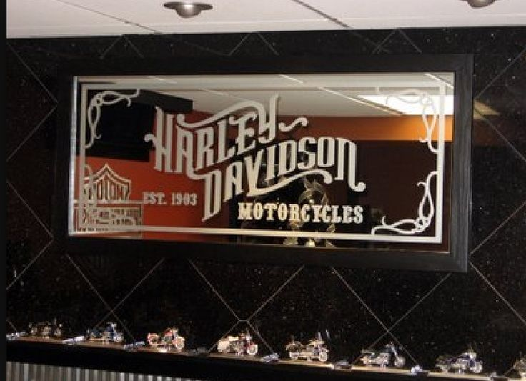 Harley Davidson Man Cave Ideas I Like The Mirror Idea