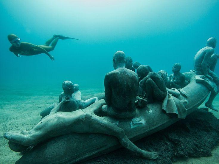 """""""Museo Atlantico"""" : Visitez un incroyable musée sous-marin dans les îles Canaries - l'Obs"""