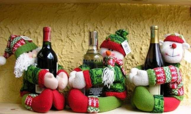 decoracion de navidad con muñecos