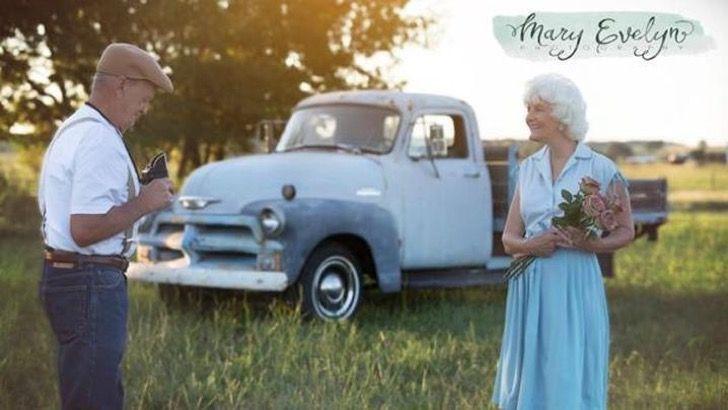 Para celebrar 57 años de matrimonio hicieron una sesión fotográfica inspirada en The Notebook