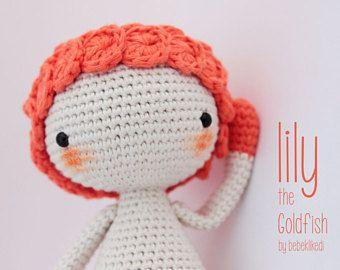 Crochet Pattern!! Lily The Goldfish / amigurumi pattern / English