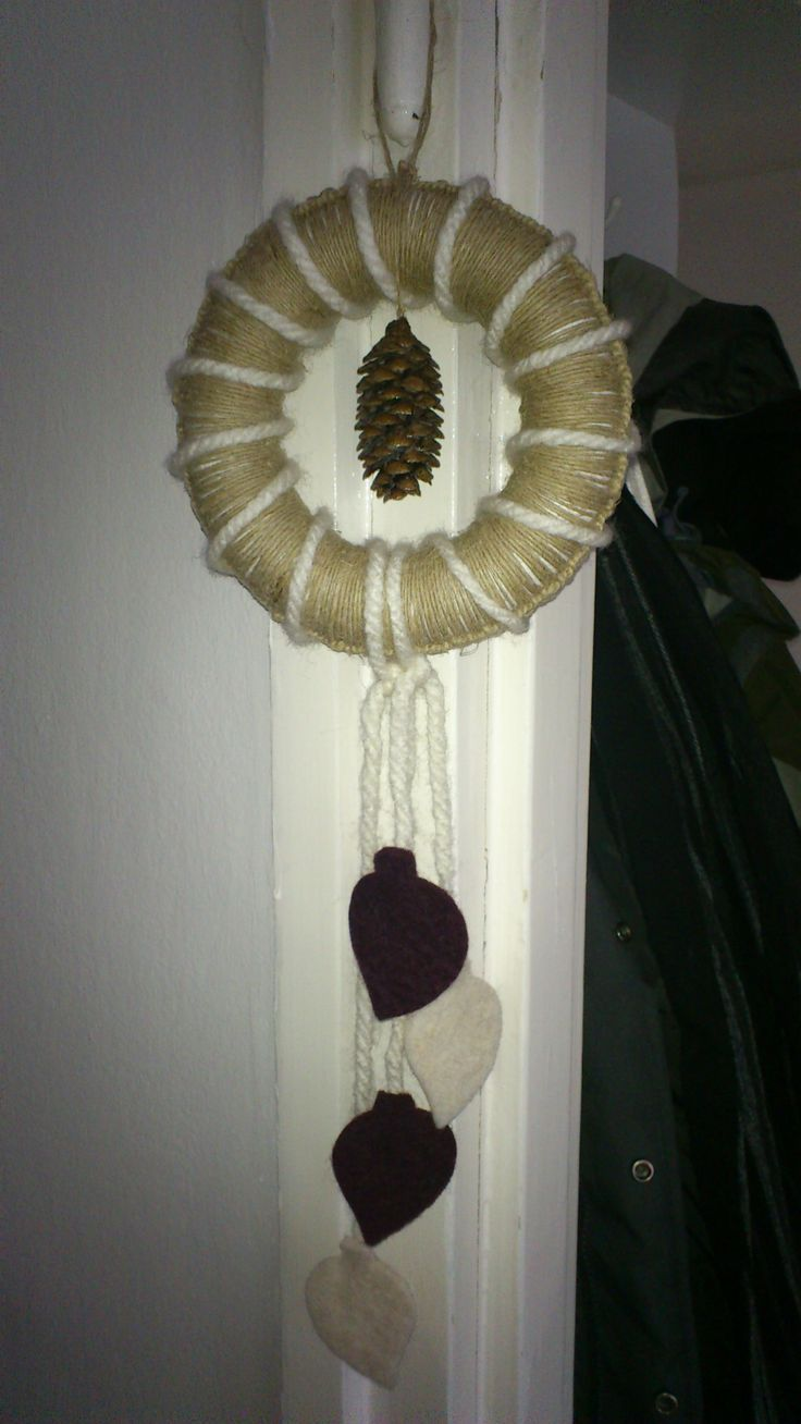 My crochet based winter wreath