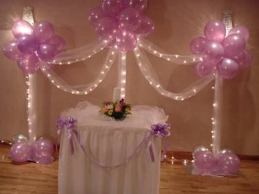 Balloon columns and arch with lighting  http://glamourbyrosanna.balloonhq.com/complete.php?portid=10641=65=53699=0=962