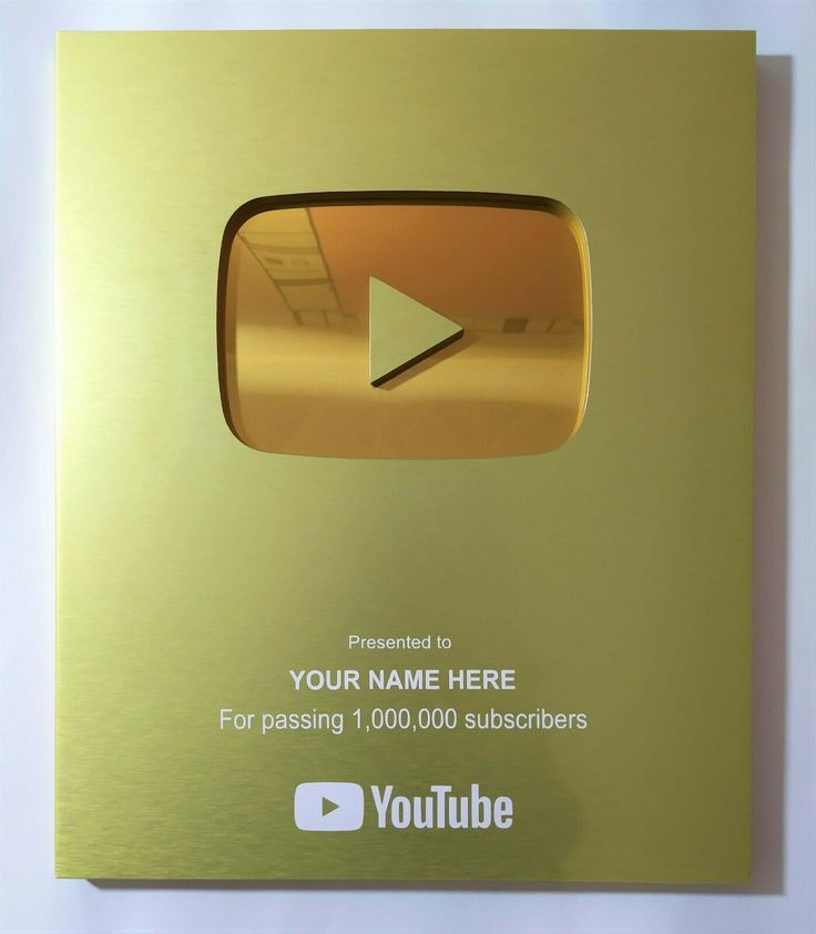 Custom Youtube Gold Play Button