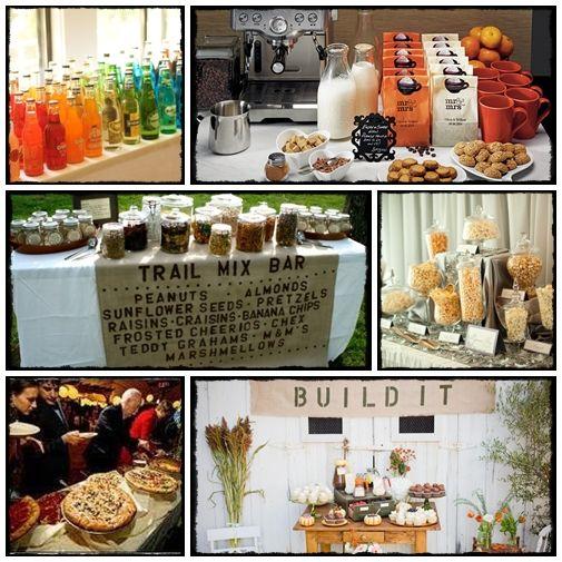 Wedding reception ideas hit the bar reception weddings for Coffee bar for wedding