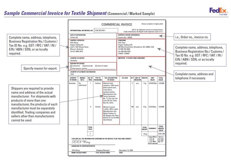 invoice format for export in excel Invoice sample