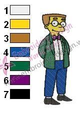 Waylon Smithers Simpsons Embroidery Design