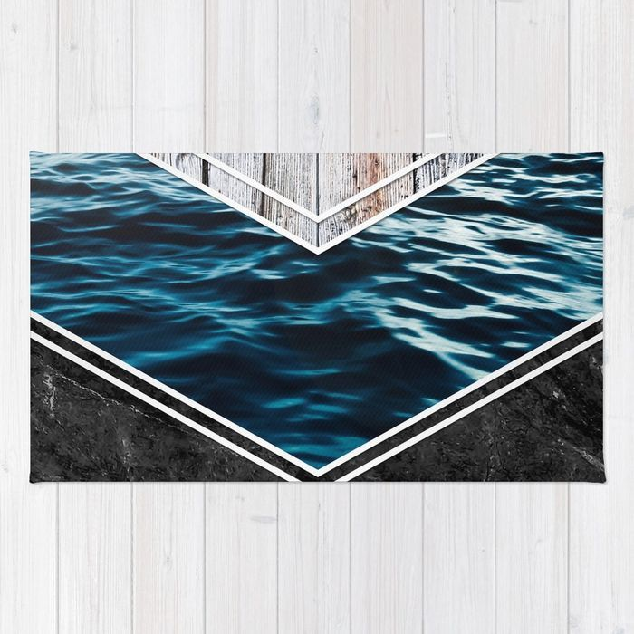 #wood #wooden #marble #stone #sea #ocean #stripe #stripes #striped #nature #texture #rug #homedecor