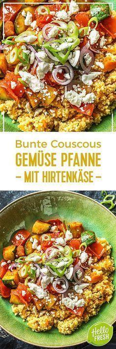 Step by Step Rezept: Bunte Couscous-Gemüse-Pfanne mit Hirtenkäse, roter Frühlingszwiebel und Paprika Kochen / Rezept / DIY / HelloFresh / Küche / Lecker / Gesund / Einfach / Kochbox / Ernährung / Zutaten / Lebensmittel / 30 Minuten / Käse / Couscous / Vegetarisch / Veggie #hellofreshde #blog #kochen #küche #gesund #lecker #rezept #diy #gesund #einfach #kochbox #ernährung #lebensmittel #zutaten #veggie #vegetarisch #couscous #gemüse #feta