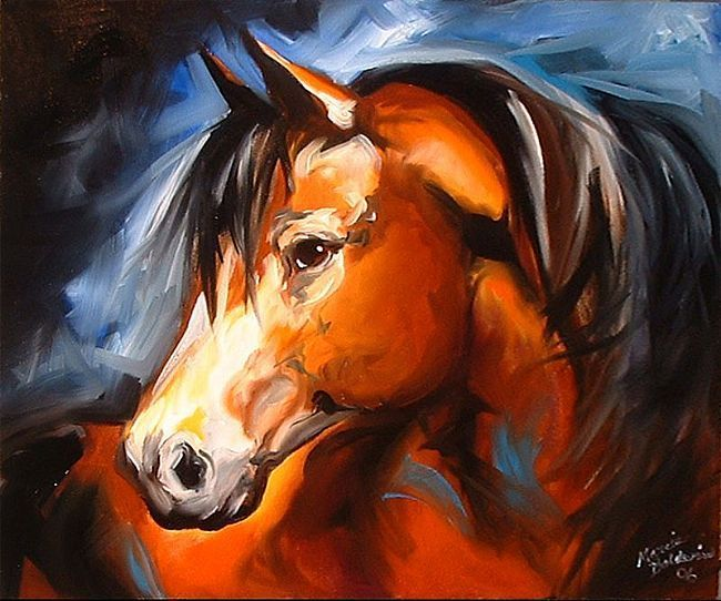 Mustang horse painting - photo#29