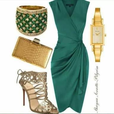 Resultado de imagen para vestidos verde jade