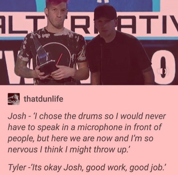 I wish we could all have a friendship like Tyler and Josh's.