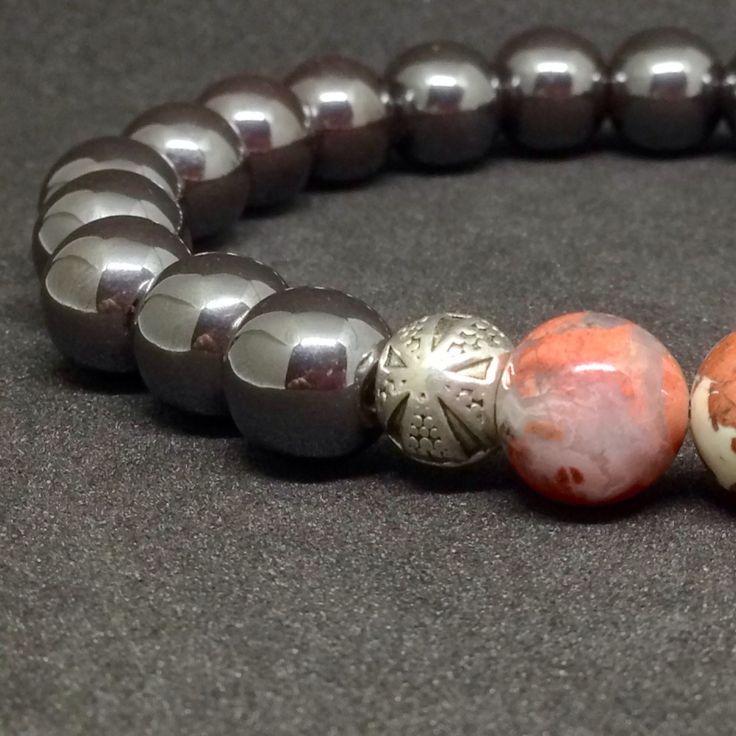 Hematite & Jasper 💁♂️men's bracelet 💝