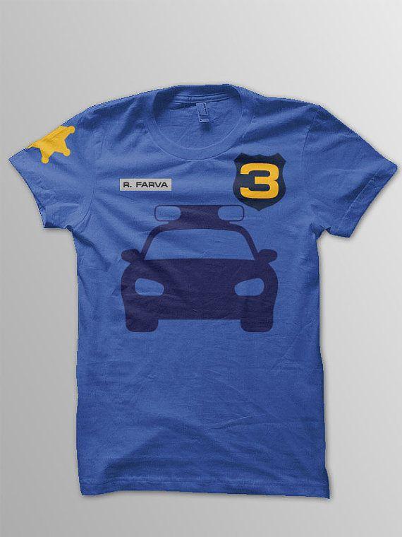 Police car birthday shirt toddler police birthday by ConchBlossom