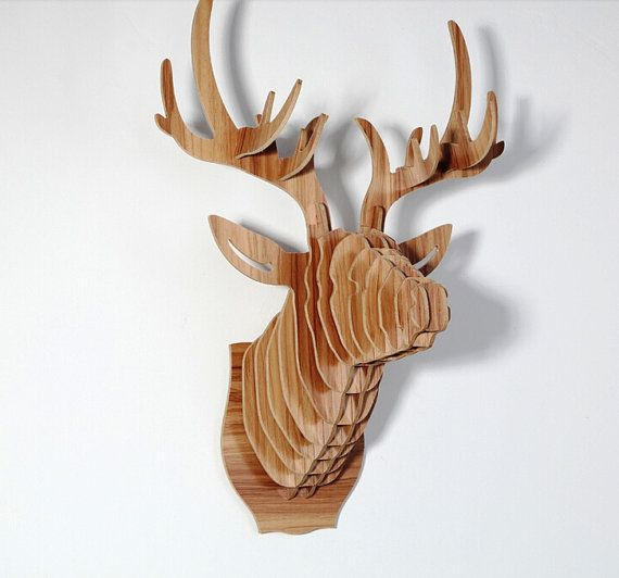 deer head puzzle animal head cardboard by