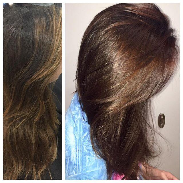 #shinyglossyhair #mahogany hair #colormelt #salonfrontcenter @leytonhouseprofessional @salonfrontcenter @getincd