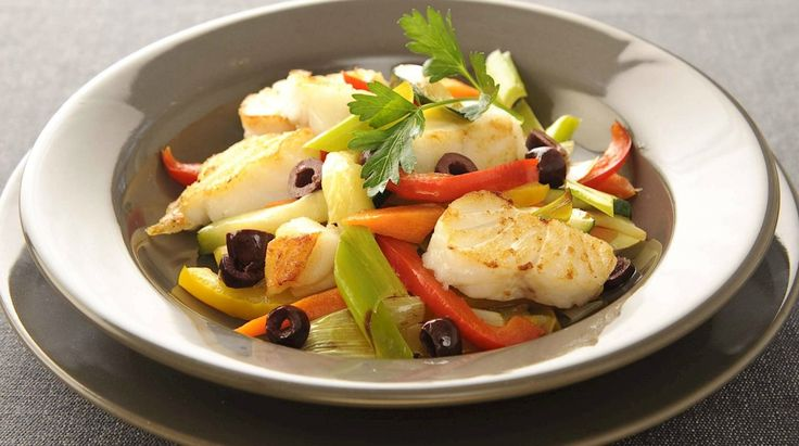 Kabeljauw met Italiaanse groenten