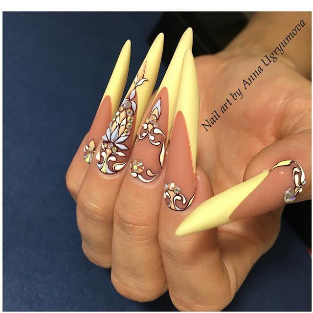 Les 25 meilleures id es de la cat gorie ongles de forme d 39 amande sur pinterest ongles en - Forme d ongle ...