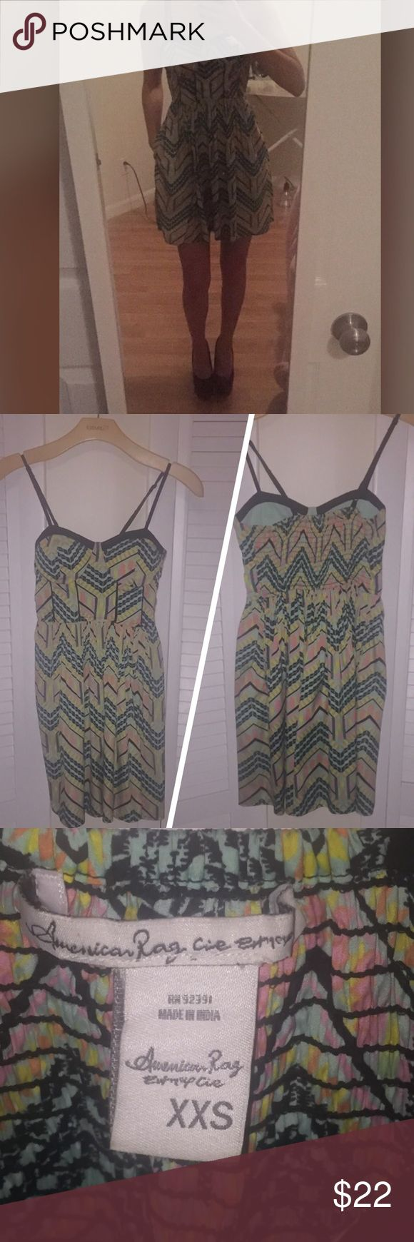 AMERICAN RAG DRESS SIZE XXS! NWOT! 💕💕💕💕💕💕💕 Fun and flirty dress from American Rag. Has cute pockets too. Purchased at Macy's. Never worn! Size XXS! 💎💎💎💎💎💎💎💎💎💎💎💎💎💎💎 American Rag Dresses Mini
