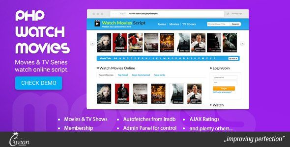 PHP Watch Movies Script v2.5 – CodeCanyon