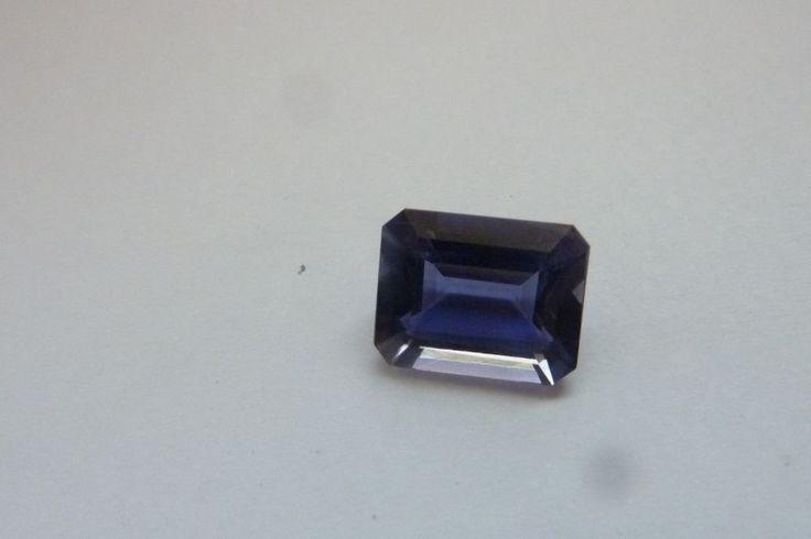 2.87 Cts Octagon Shape Blue Color 100% Natural Iolite Loose Gemstone ~ 10*8 MM #KinuBabaGems