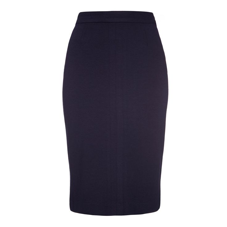 Joni High Waisted Pencil Skirt Navy | Fever London