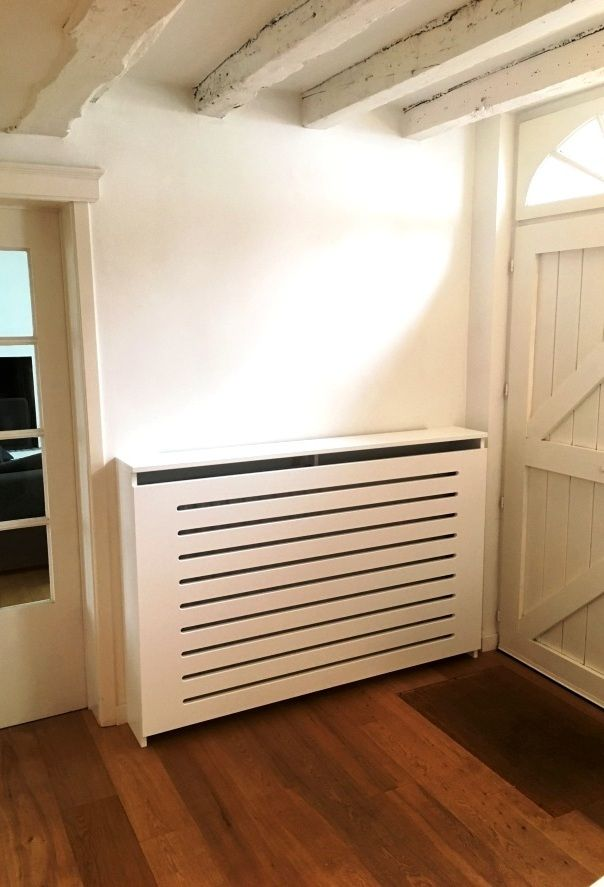 www.rwood.be Cache radiateur au design contemporain en mdf laqué blanc satin