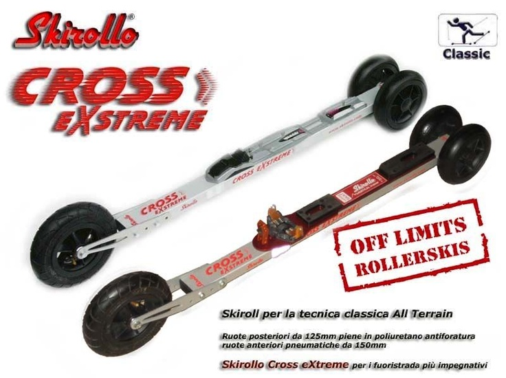 Skirollo Cross eXtreme - all terrain rollerskis for classic style