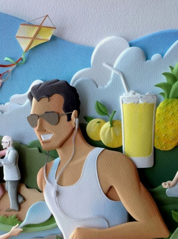 RIO - Paper sculptures by Carlos Meira, via Behance  This is funny