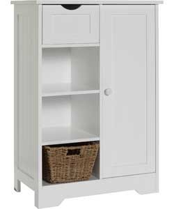Shaker Slimline Hall Storage Unit with Cupboard - White. Add 3 baskets - perfect !