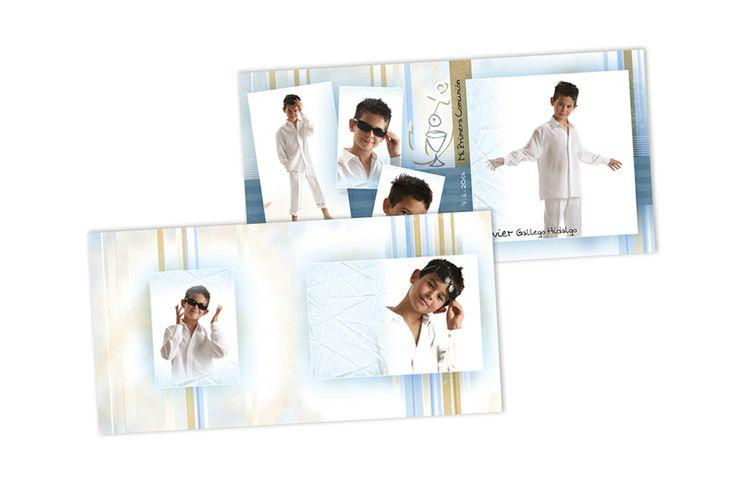 RECORDATORIOS. Dipticos 15 x 15 -Impresión Offset digital a doble cara calidad fotográfica - Acabados en brillo o perla Sobres blancos incluidos - Modelos especiales incluyen papel vegetal con lazo plateado o algún detalle. - Posibilidad de imprimirlos con sus propios diseños (Consulte medidas exactas)