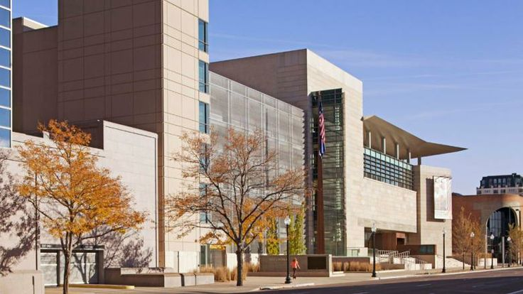 The new History Colorado Center, which was constructed with many local materials, in Denver, Colorado