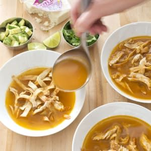 An 'authentic' tortilla soup requires a trip to a Latin market and an afternoon in the kitchen. We had just one hour and limited our grocery shopping to the local Price Chopper.