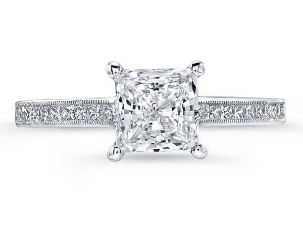 Jeff Cooper Princess cut diamond engagement ring. Available at Alson Jewelers.