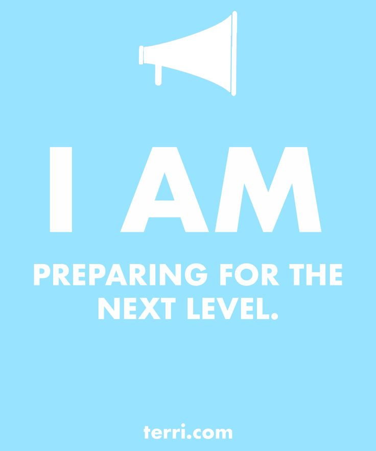 I AM PREPARING FOR THE NEXT LEVEL! Your words are powerful and the words you speak about yourself are even more powerful. Discover what to say from God's Word about your freedom, faith, finances, family, fitness, and your future dreams and goals. Program your mind for success through positive declarations and affirmations to become happier, healthier, and more productive today! Click on the Pin to order my book Pep Talk & find out more about affirmations.