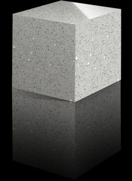 Master: Countertop – remnant in white quartz with small gray pebble detail or Silestone Blanco Snow