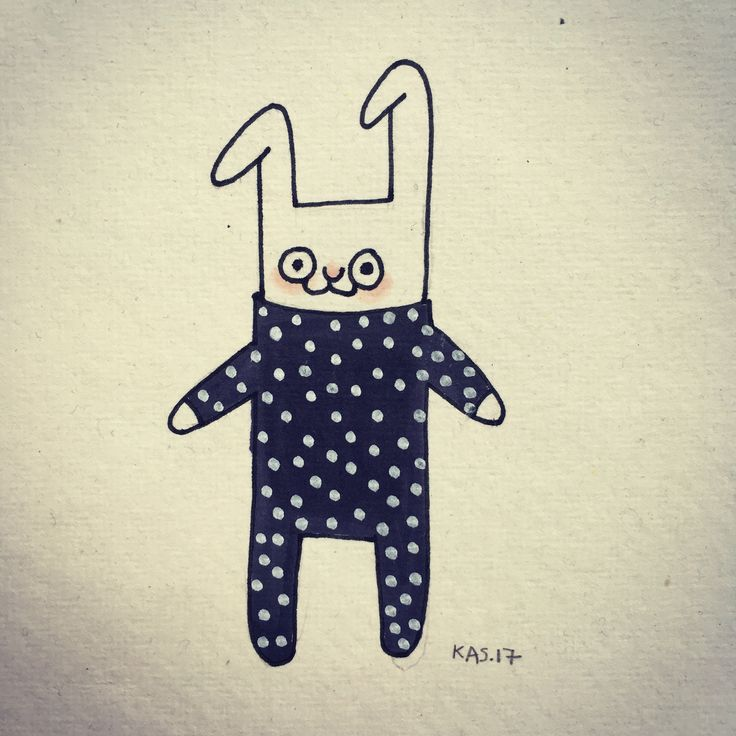 Little bunny with dots
